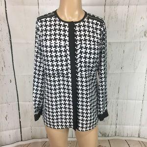 Michael kors women's geometric blouse size 8